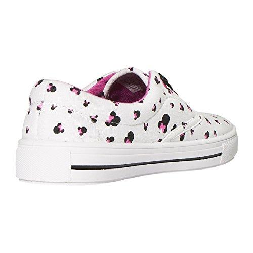 Disney Junior Teen Girls Bas Haut Mickey Et Minnie Sneakers De Mode (voir Plus De Conceptions Et De Tailles) Rose Multi