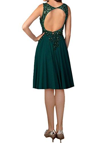 Abendkleider Tuell 1 DunkelGruen Missdressy Ballkleider Festkleider Abschlussball Rueckenfrei Aermellos Abiball Elegant Chiffon Satin Lang Rundkragen wt8AqxRC