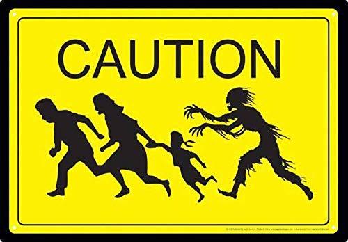 注意ゾンビ 金属板ブリキ看板注意サイン情報サイン金属安全サイン警告サイン表示パネル