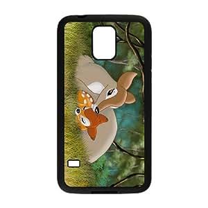 Samsung Galaxy S5 Cell Phone Case Black Bambi Character Bambi O6648876