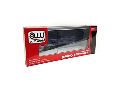 Interlocking 6 Cars Collectible Display Show case for 1/64 Scale Model Cars by Autoworld AWDC003