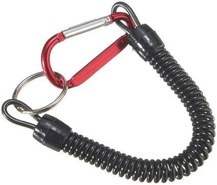 Vinciann Porte-cl/és mousqueton attache extensible Argent/é corde lacet pour cl/é Block Shaft