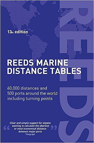 Reeds Marine Distance Tables 13th Edition Professional Miranda Delmar Morgan 9781472900715 Amazon Books