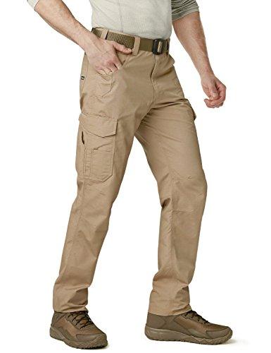 CQR CQ-TWP302-KHK_44W/30L Men's Rip-Stop Tactical Work Utility Operator Pants EDC TWP302