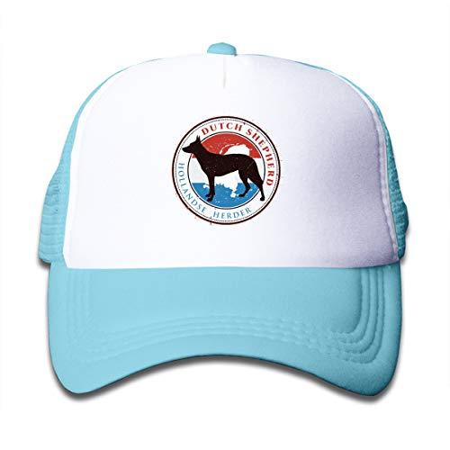 Aiw Wfdnn Funny Dutch Shepherd Mesh Baseball Caps Girls Adjustable Trucker Hat Sky Blue