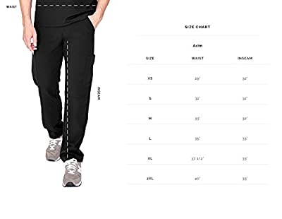 FIGS Axim Cargo Scrub Pants for Men – Structured Fit, Super Soft Stretch, Anti-Wrinkle Medical Scrub Pants