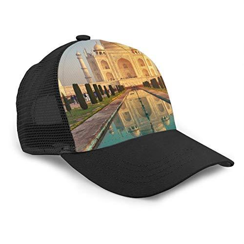 TONGHUJ Taj Mahal India Baseball Cap Trucker Hat Unisex Hat Max Mesh Back Black