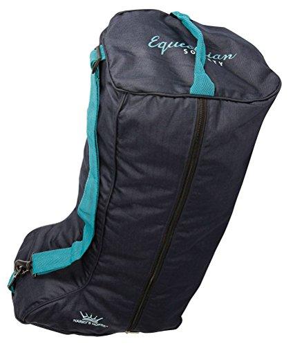 Harrys Horse Stiefeltasche WI 17 dunkelblau | Reitstiefeltasche |Tragetasche für Reitstiefel | Reitstiefel Tasche | Reitstiefel Schutz | Stiefelbeutel |Tasche für Reitstiefel | Reitertasche