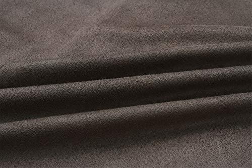 Giacca Lunghe Top Jacket A Colletto Spolverino Drappeggiate Cascata Superiore Buttonless Cappotto Con Davanti Drape Maniche Asimmetrico Giubbotto Marrone Coat 6qqgxTR