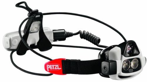 PETZL NAO Rechargeable Headlamp with Self Adjusting Reactive Lighting Technology, Grey/Black, 187gm ()