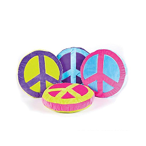 16 X 16'' Plush Peace Sign Pillow by Bargain World