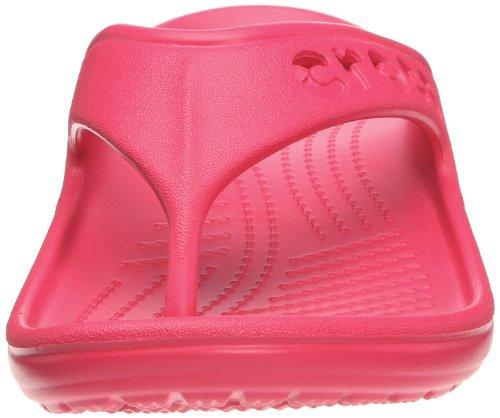 Crocs Baya Flip, Unisex-Erwachsene Zehentrenner Sandalen, Rot (Raspberry)