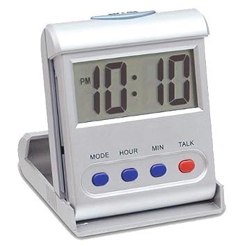 CursOnline Mini Reloj Digital parlante de Despertador Italiano ergonómico de Viaje para no apoplejía deficiencia auditiva Mayores: Amazon.es: Electrónica