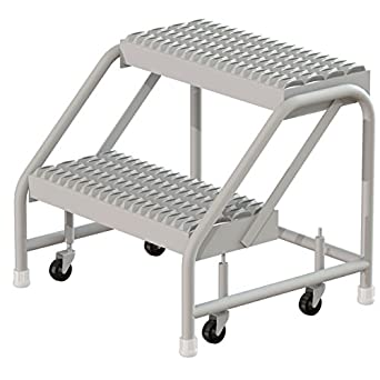 Tri Arc Wlst002212cas 2 Step Steel Step Stool With Casters 20