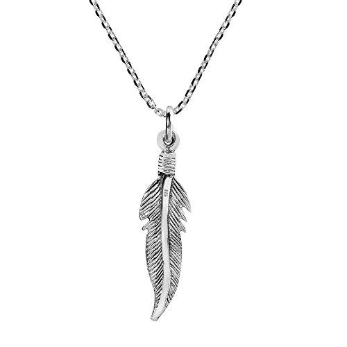 Mini Argent Tribal nbsp;chaîne Plume Sterling 925 r8rwPT0q
