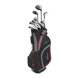 Wilson Men's Profile XLS Complete Package Golf Set, Left Hand, Red