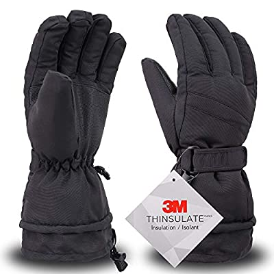 Simplity Ski Gloves - Waterproof Snowboard Snow Warm Winter Men Gloves