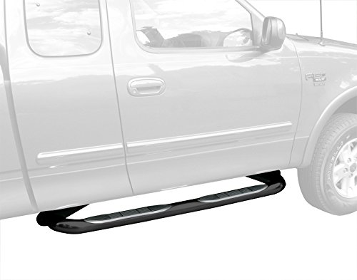 TYGER Custom Fit 97-03 F150/250 LD Super Cab/97-98 Super Cab Black 3' Side Step Rails Nerf Bars Running Boards(2pcs with Mounting Bracket Kit) Tyger Auto