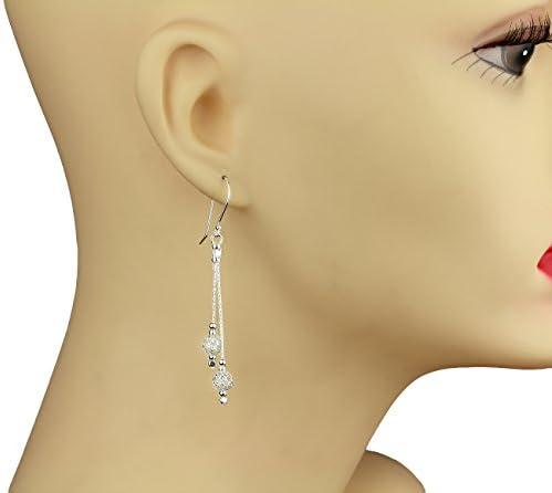 Stera Jewelry 925 Sterling Silver Filigree Beads Long Dangle Earrings
