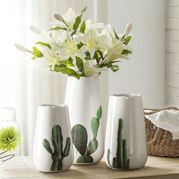 Amazon.de: Moderne und Minimalistische Keramik Vasen Ornamente ...