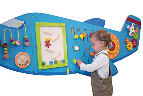413qCpz4U1L - Learning Advantage Airplane Activity Wall Panels - Toddler Activity Center - Wall-Mounted Toy for Kids Aged 18M+ - Kids Decor for Play Areas (50673)