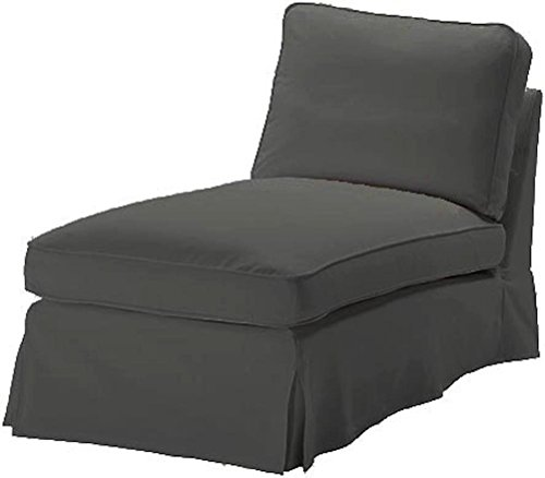 The Dense Cotton Ikea Ektorp Chaise Cover Replacement Is Custom Made For Ikea Ektorp Chaise Lounge Cover. A Sofa Slipcover Replacement (Cotton Dark Gray) (Custom Lounge Chaise)