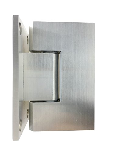 VRSS 304 Stainless Steel Shower Glass Door Hinge 90 Degree Wall-to-Glass (Single Pack)