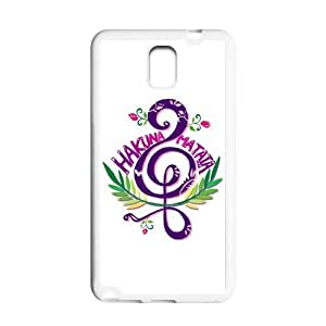 Purple Music Note Protective Gel Rubber Back Fits Cover Case for SamSung Galaxy Note 3