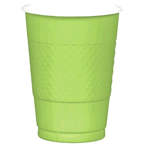 Reusable Party Cups Tableware, Kiwi Green, Plastic , 16 Ounces, Pack of 20