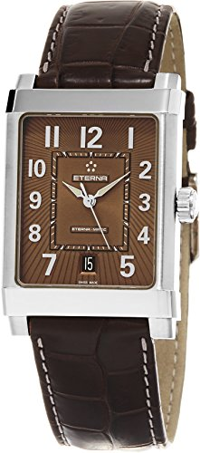 Eterna 1935 Eterna-Matic Grande Men's Brown Leather Strap Swiss Automatic Watch 8492.41.24.1163D