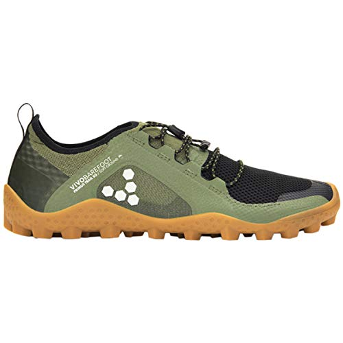Vivobarefoot Womens Primus Trail Soft Ground Mesh Olive Trainers 7.5 ()