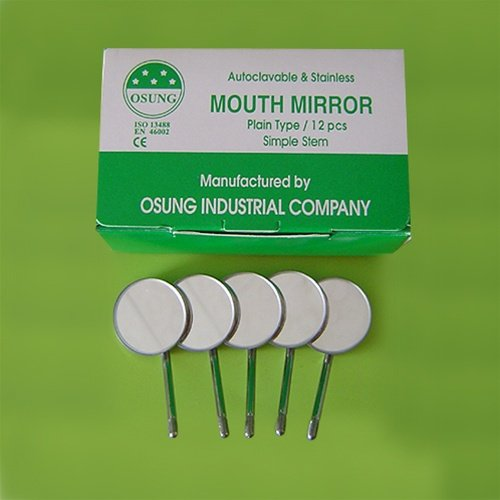 (Osung DMSS5 Dental Mouth Mirror #5, Simple Stem (Pack of 12))