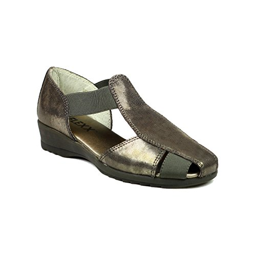 Mr T milz The Womens Flexx Metallic Leather Sandals aqTwxvU