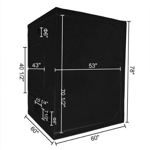 "413qE%2ByRtiL - Hydroponics Reflective Mylar Grow Tent 60""x60""x78"""