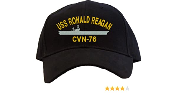 USS Ronald Reagan CVN-76 Embroidered Baseball Cap - Black at Amazon Mens Clothing store: Other Products