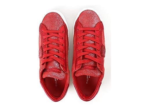 Xm89 Mujer Blanca Ante Modelo Rojo Philippe Piel Zapatillas Con Número Suela Model Clld De wFxqOUH