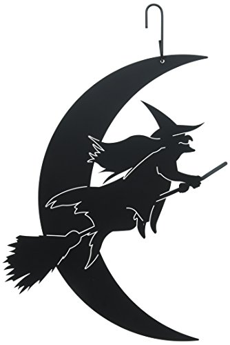 16.75 Inch Witch Moon Hanging Silhouette ()