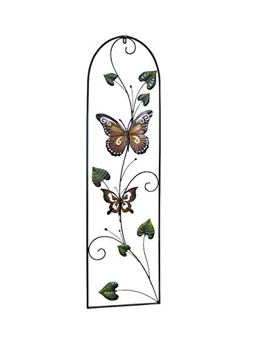 PierSurplus 43 in Tall Colored Metal Butterfly Wall Decor with Vines Product SKU: HD229153B
