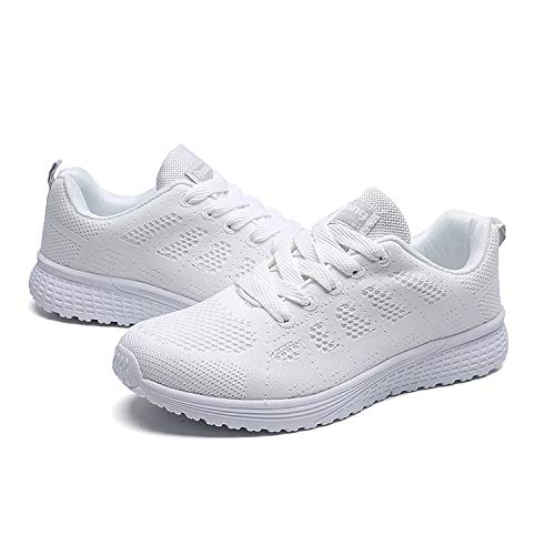 Sneaker Passeggio Bianca Uomo Qzbaoshu Donna Leggero Scarpe qtWAxxXwO