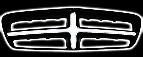Illuminated Crosshair Front Grille LED White Light Fits 2011-2014 Dodge - Illuminated Cross