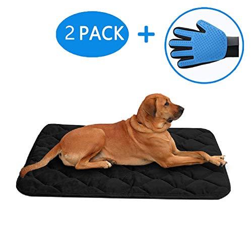 Black 25\ Black 25\ SincoPet Dog Bed Mat Washable,Soft Fleece Crate Training Pad,Anti-Slip Matress for Small Medium Large Pets