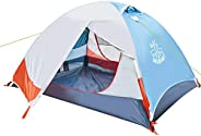 DEERFAMY 2 Person Tent, Waterproof Tents for Camping, Ultralight Backpacking Tent with Aluminum Poles and Expa