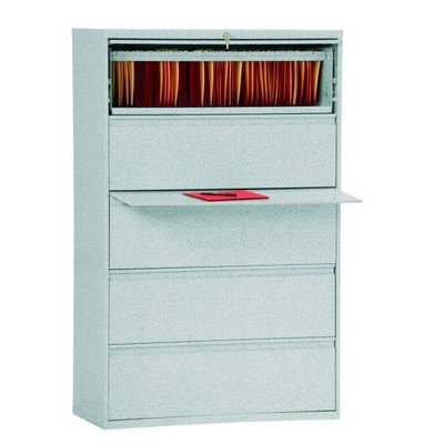 Sandusky Lee LF8F425-MG 800 Series 5 Drawer Lateral File Cabinet, 19.25″ Depth x 66.375″ Height x 42″ Width, Multi Granite