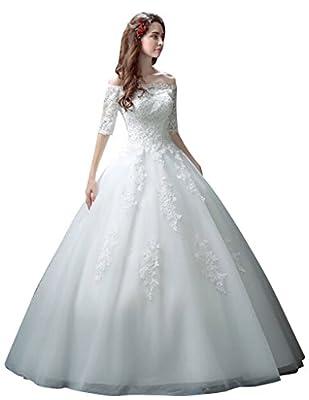 Oailiya Women's Off Shoulder Lace Wedding Dress
