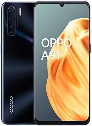 "OPPO A91 Smartphone, Display 6.4"" AMOLED, 4, Fotocamere,128GB Espandibili, RAM 8GB, Batteria 4025mAh, Dual Sim, 2020 [Versione italiana], Lightening Black"