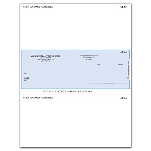 Middle Business Check - Laser Business Checks - Middle Format Laser Checks for MAS & Sage50 Software (100 qty) - Custom