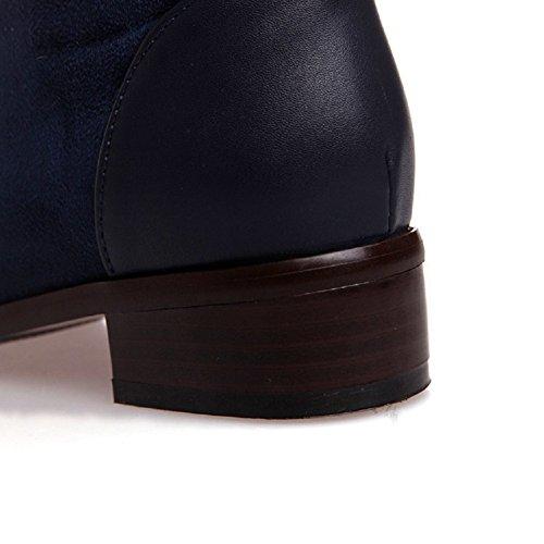 Scarponcino Da Equitazione Con Tacco Basso, Stivali Blu Scuro