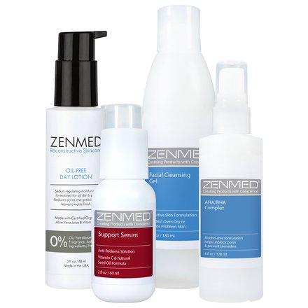 ZENMED Acne Rosacea Bundle - For Skin Suffering from Pimples Pustules Acneic Skin Eruptions this pH-Balanced Approach will Cleanse and Balance Unclog Pores Manage Oiliness and Calm Redness