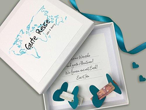 Geldgeschenk Zur Hochzeit Personalisiert Gute Reise Amazonde Handmade