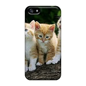 Defender Case For Iphone 5/5s, Curious Kittens Pattern